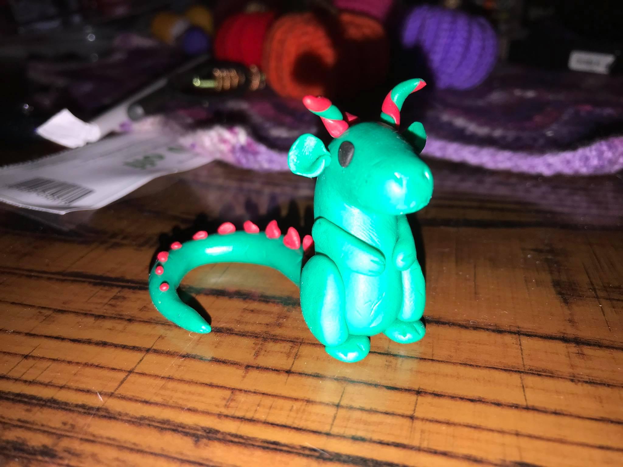 Polymer Clay Dragon  Tutorial
