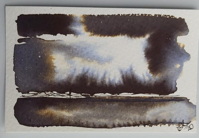 Landscapes using Fountain pen ink