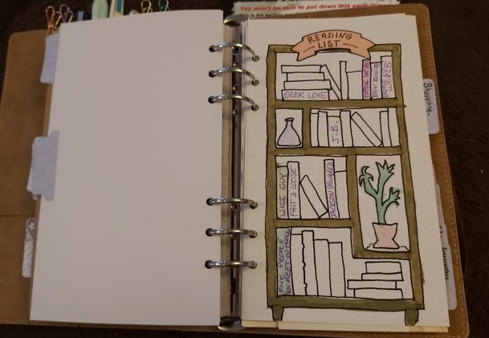 Plan With Me – Bookshelf Tracker
