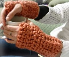 Chunky Mitts – Full Crochet Pattern Video – UK terminology